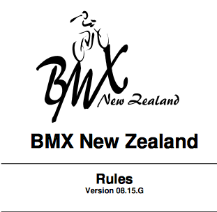 BMXNZ Rule Book Update – September 2015