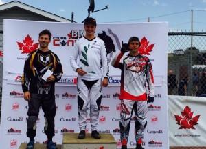 Nick Fox and Trent Jones on the podium. Photo: Nick Fox, Facebook