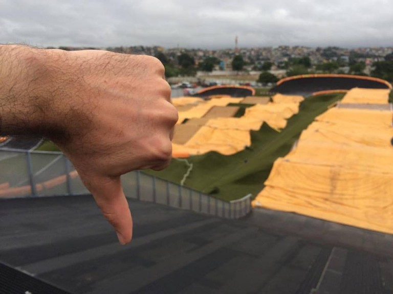 Horrible hit out for BMX team in Rio