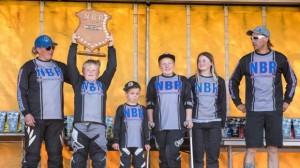 The successful Cambridge BMX crew, from left, Sara Pickin, Brock Nelson, Kobi Russell, Kaylah Nelson, Caleigh Millar, Steve Shimanski.