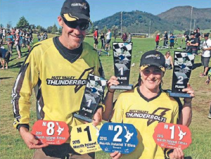 Stephen and Jo Coombes both won North Island BMX titles,  Photo supplied.