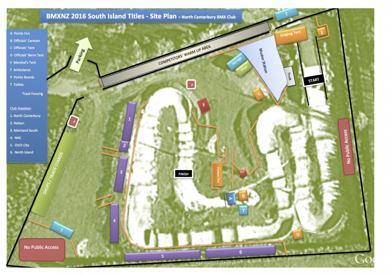 Souths Site Plan, Gates, Practice, Registration
