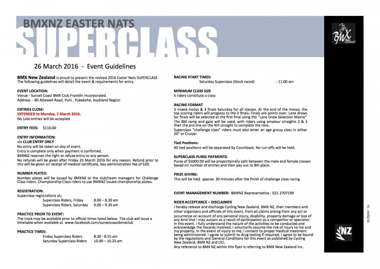 Nationals Revised SUPERCLASS flyer & entry