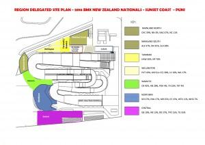 Region and Club Site Plan 2016 BMXNZ Nationals