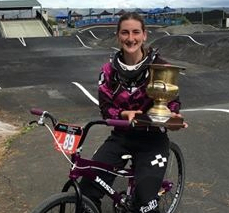 Caitlin Georgantas named BMX NZ Sportswoman of the Year
