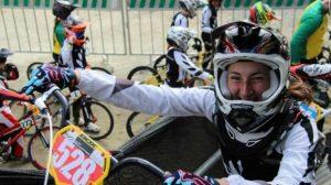 Caitlin Georgantas at the 2016 BMX World Championships.
