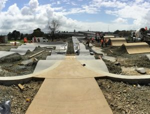 The BMX track (above) was inspired by a similar track in Melbourne, and features a series of consecutive jumps in a pump track-style loop.