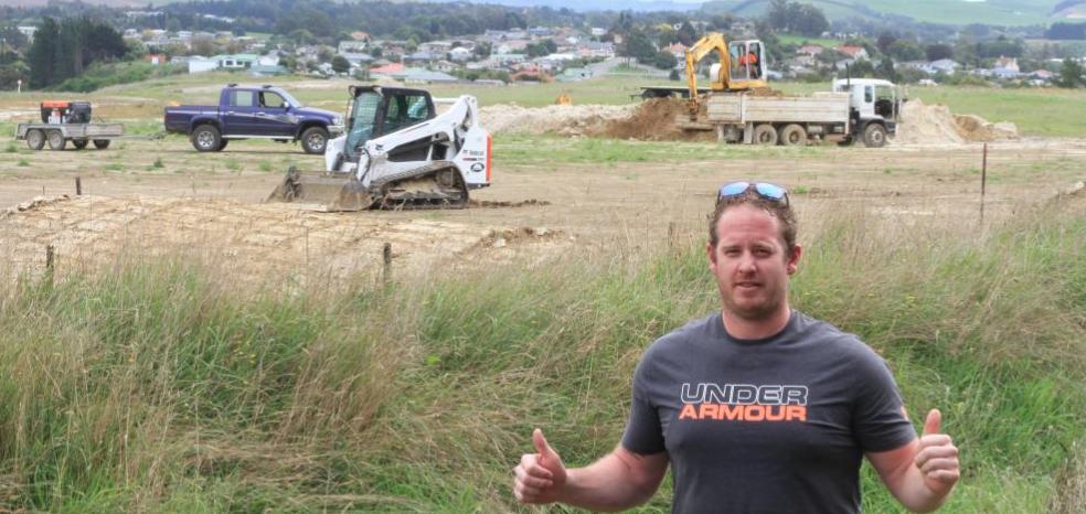 Work begins on North Otago BMX track
