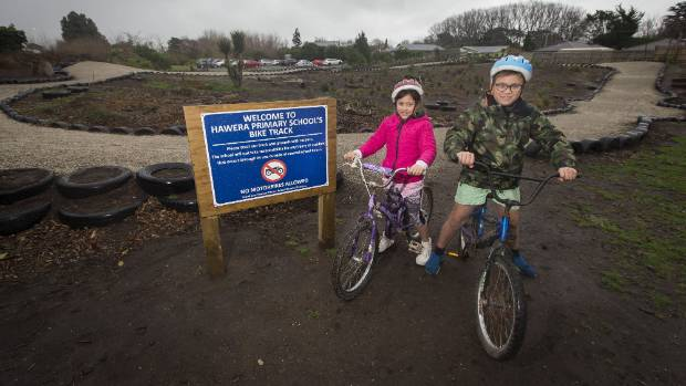 Community service work crews have helped build school a new BMX track