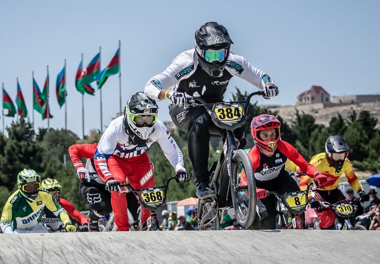 Cambridge pair win rainbow jerseys in BMX Worlds
