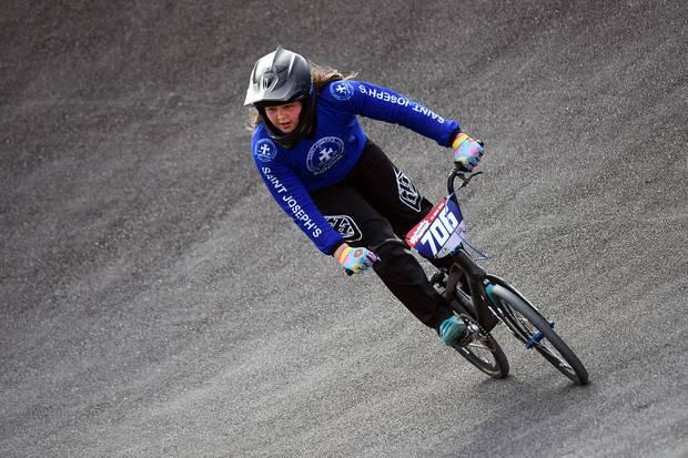 Whakatane BMX rider Jaydah-Lily Lees sets record at AIMS Games