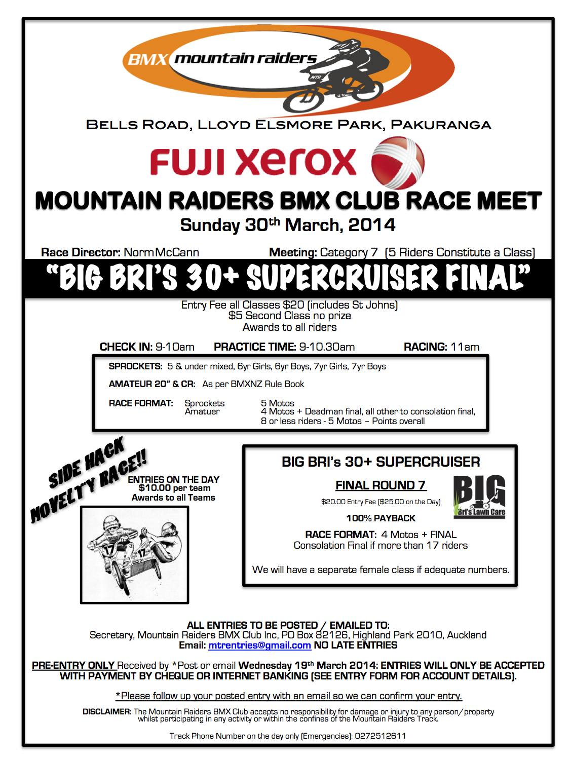 mr race flyer 2014 bmx net nz