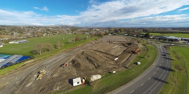 Hawke's Bay BMX track taking shape