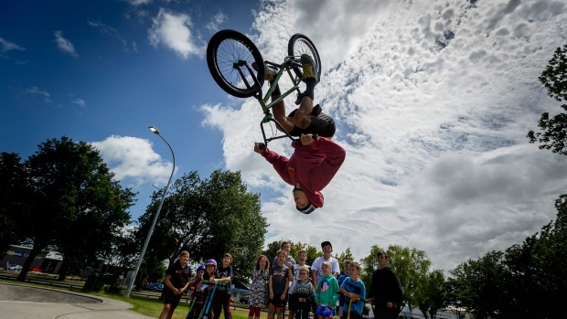 Kiwi BMX quadruple backflip star stays grounded
