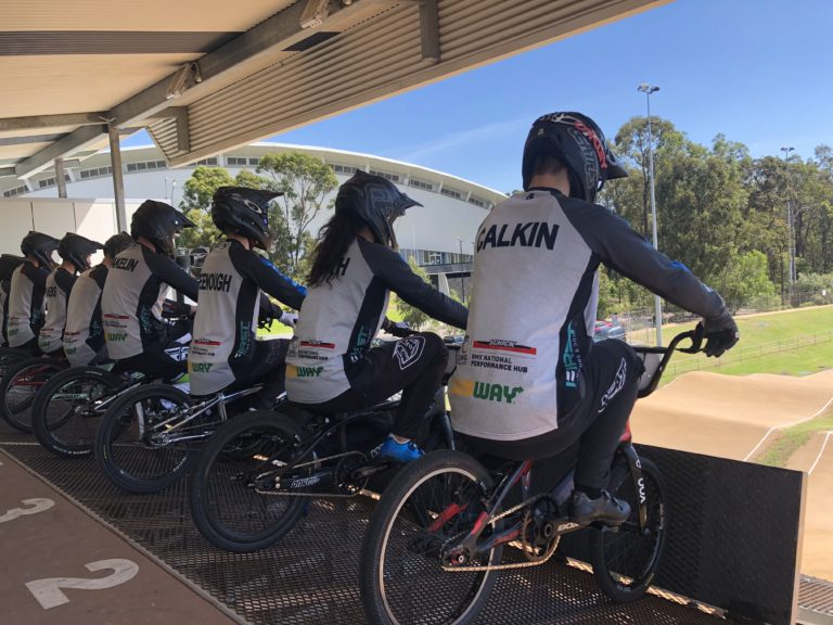 Podiums for Schick Civil Construction Performance Hub BMX riders in Australia