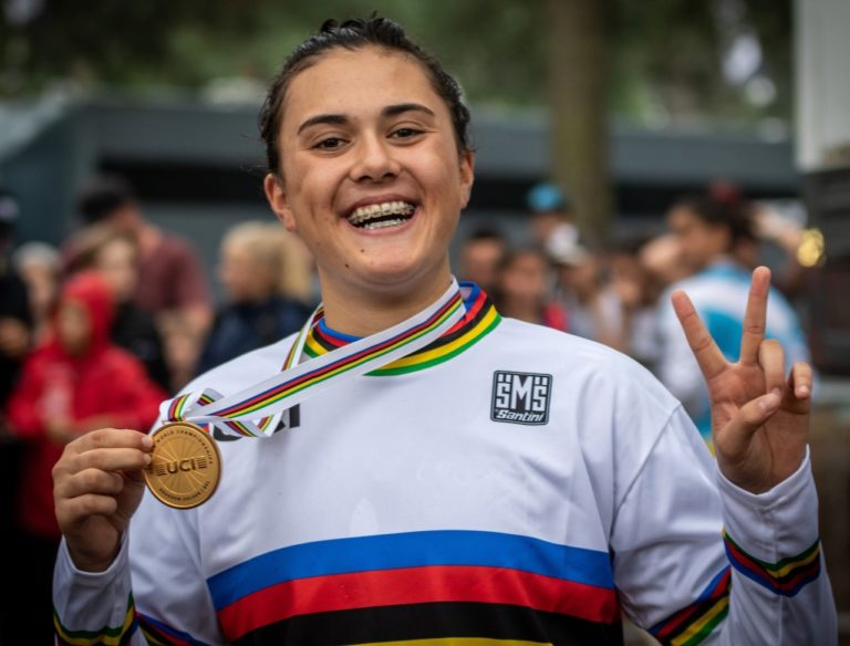 Jessie Smith claims BMX rainbow jersey in Belgium